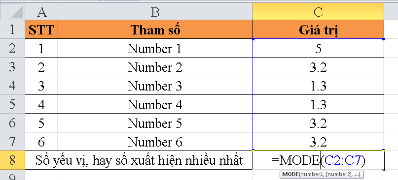 cach-su-dung-ham-MODE-trong-excel-1