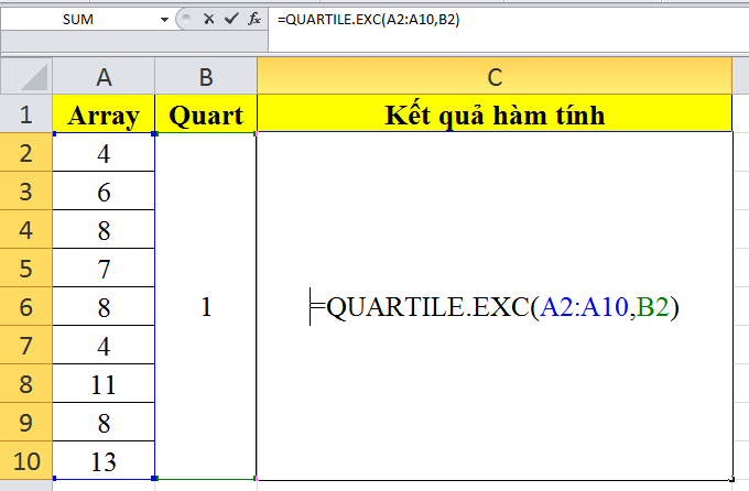 cach-su-dung-ham-QUARTILE.EXC-trong-excel-1