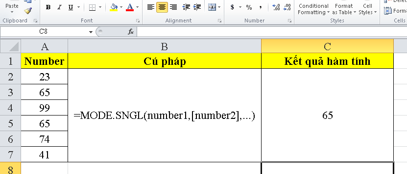cach-su-dung-ham-MODE.SNGL-trong-excel-2