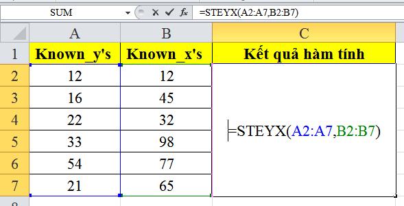 cach-su-dung-ham-STEYX-trong-excel-2