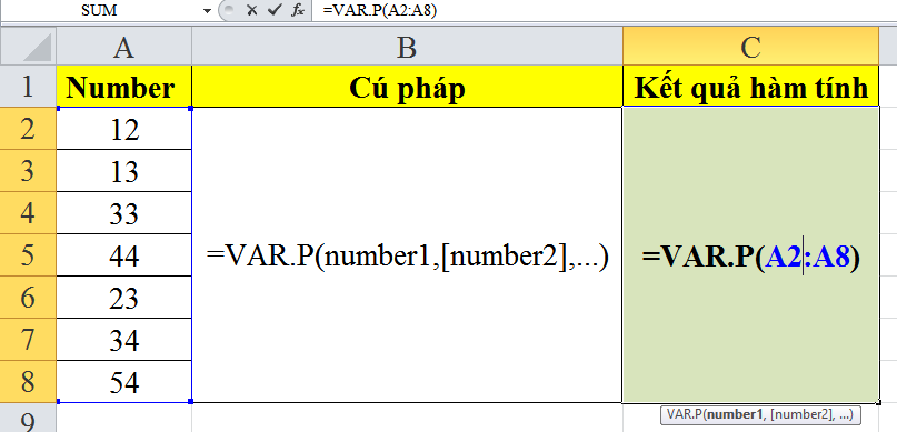 cach-su-dung-ham-VAR.P-trong-excel-1
