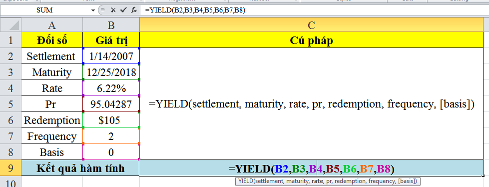 Cách sử dụng hàm yielddisc trong excel
