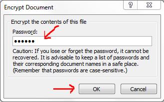 Cách đặt mật khẩu password cho file excel