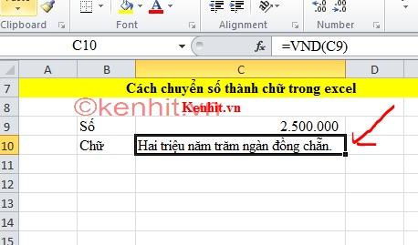 Hướng dẫn cách chuyển đổi số thành chữ thành công 100% trong excel