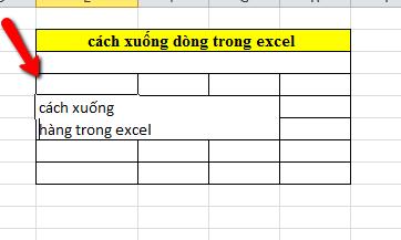 Cách xuống dòng trong excel 2003, 2007, 2010, 2013, 2016