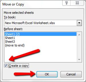 Cách copy sheet trong excel