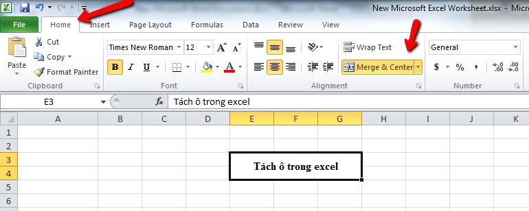 tach-o-trong-excel-1