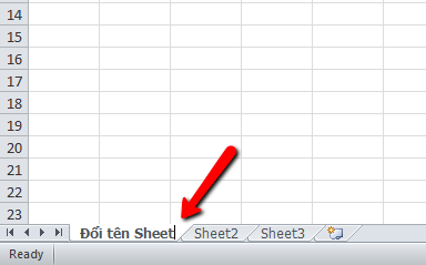 Cách đổi tên sheet trong excel