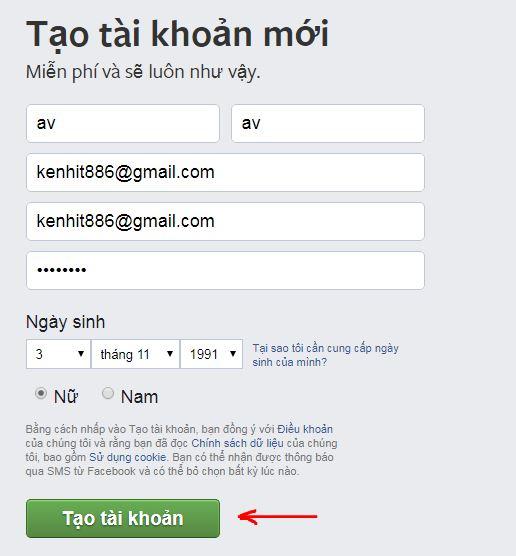 Hướng dẫn cách đăng ký, tạo ních facebook hoàn toàn miễn phí
