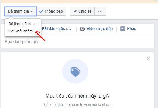 Hướng dẫn cách rời nhóm trên facebook