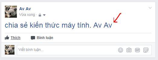 Hướng dẫn cách viết chữ màu xanh nổi bật trên facebook
