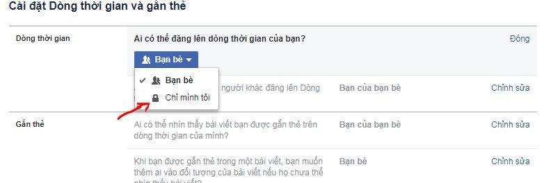 Hướng dẫn cách chặn người khác đăng bài viết lên tường facebook nhà bạn
