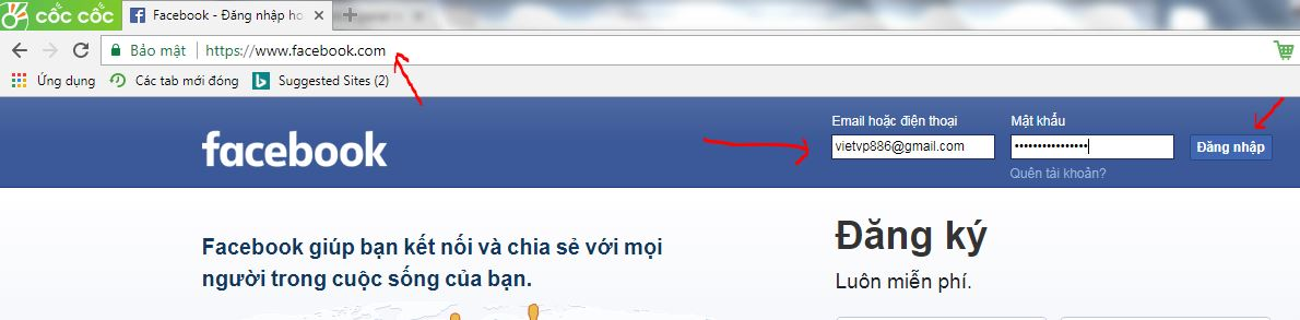 Hướng dẫn cách đăng nhập facebook an toàn