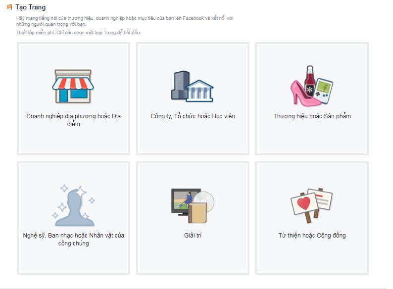 Hướng dẫn cách tạo một trang fanpage facebook đơn giản và hoàn toàn miễn phí