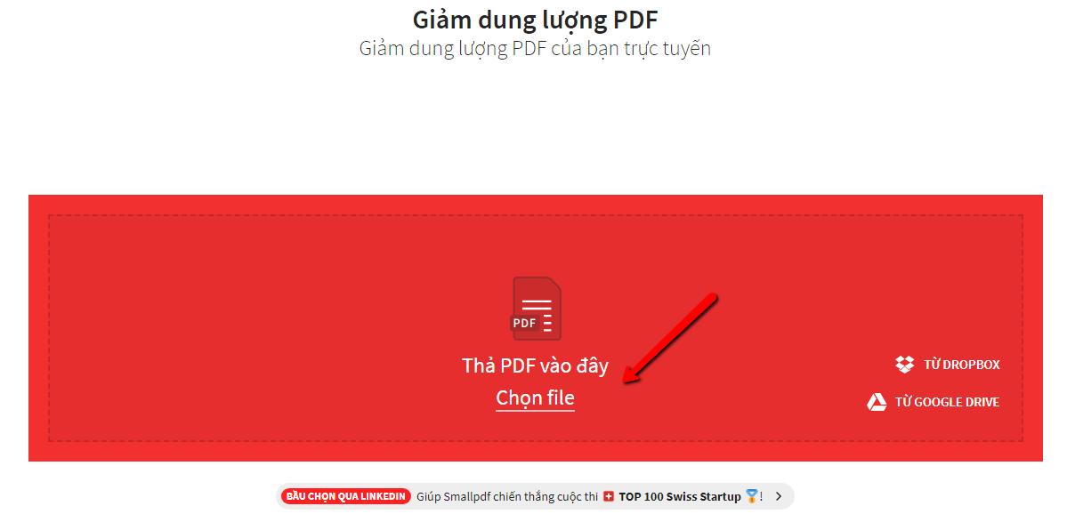 Cách giảm dung lượng file pdf online