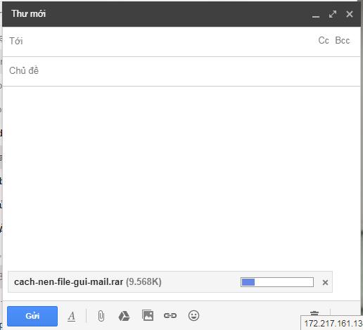 Hướng dẫn cách nén file để gửi mail