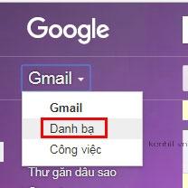 Hướng dẫn tìm danh bạ trên gmail