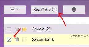 Hướng dẫn cách xóa thư trong thùng rác của gmail