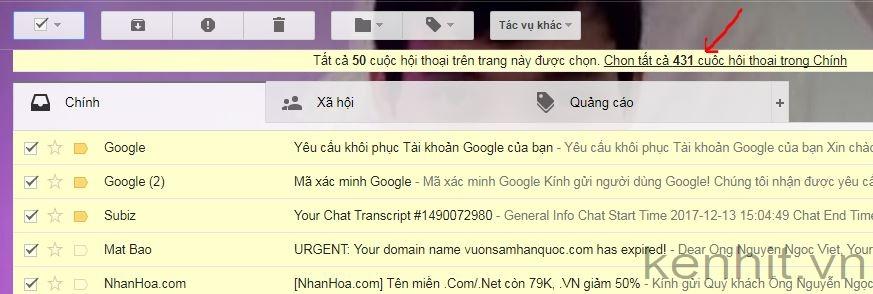Những cách xóa thư trong gmail nhanh chóng