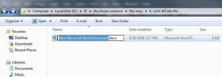 Cách đổi tên File