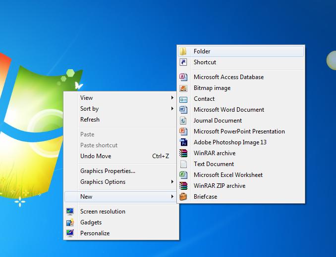 Cách tạo folder hay tạo thư mục trên windows