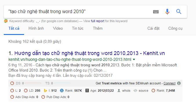 Mẹo tìm kiếm trên google