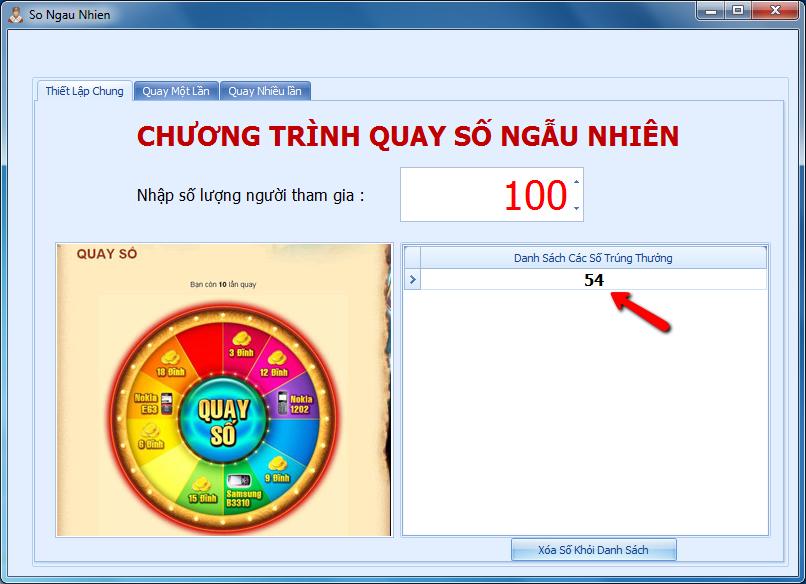 Phần mềm bốc thăm ngẫu nhiên, phần mềm quay số trúng thưởng
