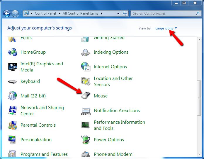 cách chỉnh double click chuột, thay đổi tốc độ chuột trên windows