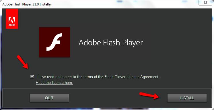 Cách cài đặt adobe flash player