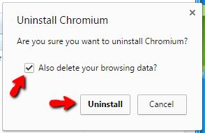 Hướng dẫn gỡ Chromium trên máy tính