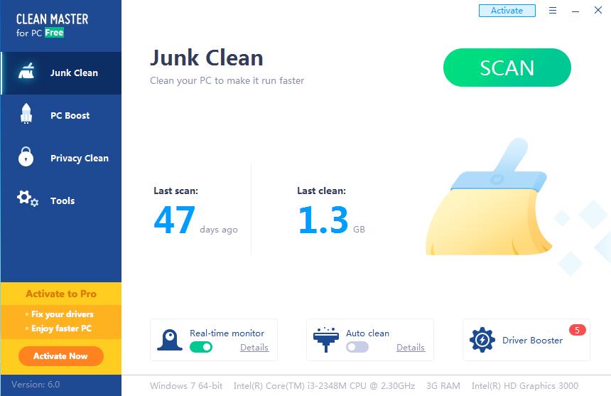 Tải phần mềm clean master
