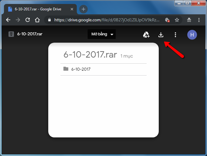 Cách tải file từ google drive