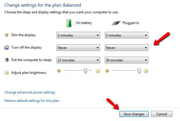 Cách để màn hình máy tính không tắt