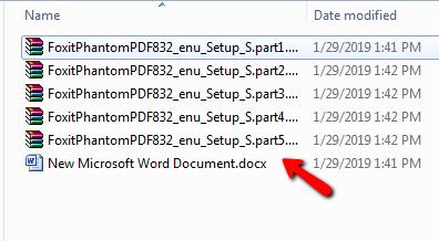 Cách nối file rar bị chia nhỏ