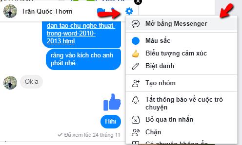 Cách xóa tin nhắn trên facebook messenger