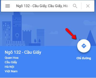 Cách sử dụng google map để chỉ đường trên máy tinh