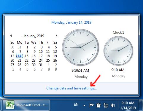 Lỗi thời gian trên máy tính không tự động cập nhật mỗi khi bật máy tính