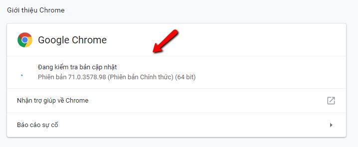 Cách cập nhật google chrome