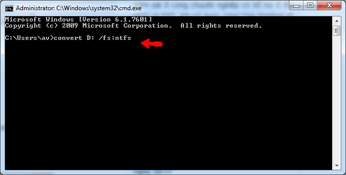 Cách convert fat32 to ntfs đơn giản không sử dụng phần mềm