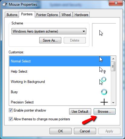 Cách thay đổi con trỏ chuột trên máy tính