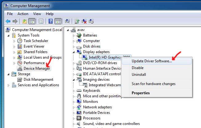 Lỗi không chỉnh được độ sáng màn hình laptop