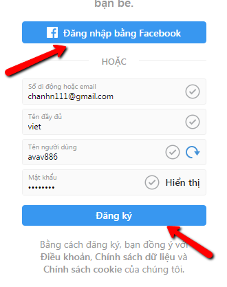 Cách đăng ký instagram, tạo tài khoản instagram trên máy tính