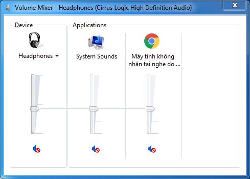 Cắm tai nghe vào máy tính không nghe được