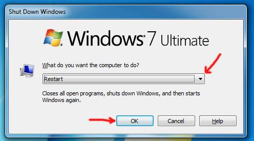 Cách khởi động lại máy tính PC Laptop, restart máy tính