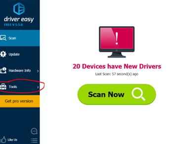 Tải phần mềm Driver Easy cập nhật tìm kiếm driver cho máy tính