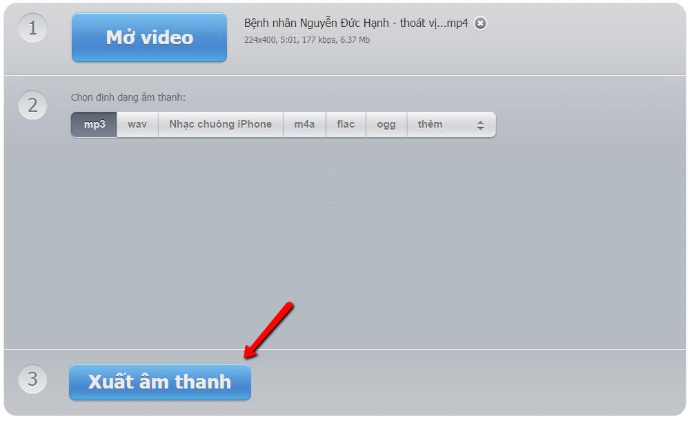 Cách tách nhạc khỏi video online