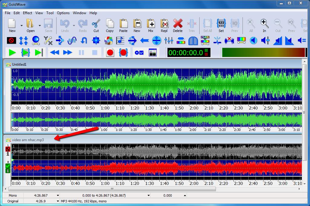 Cách tách lời bài hát lấy beat bằng phần mềm goldwave