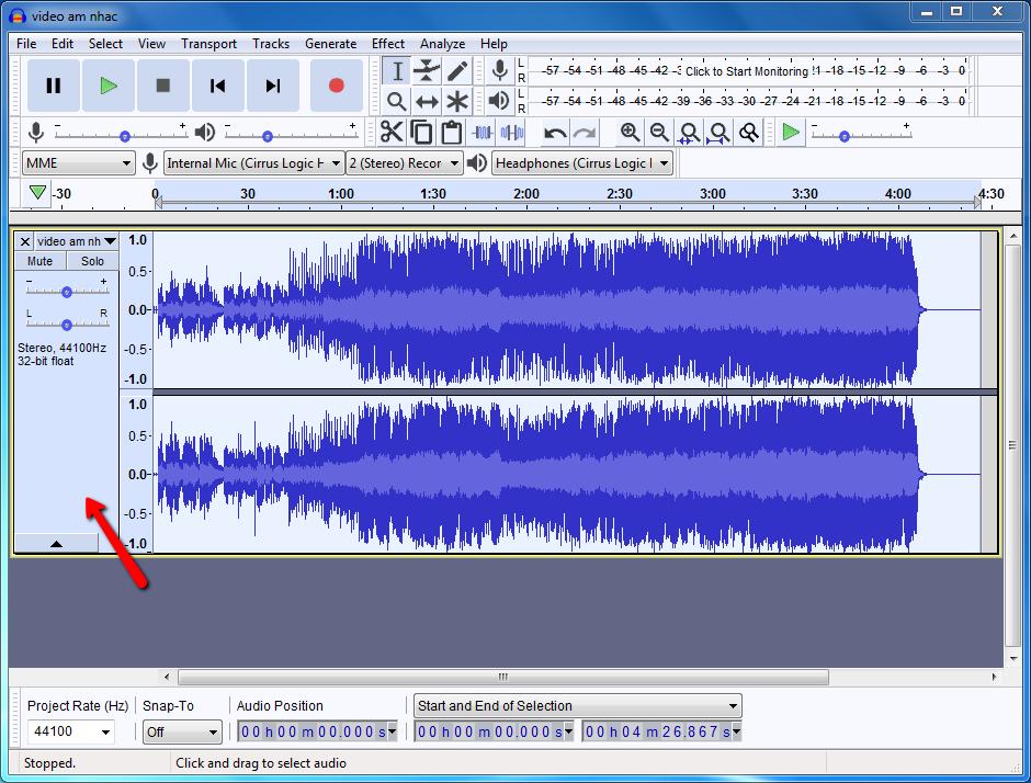 Phần mềm tách lời bài hát lấy beat chuyên nghiệp audacity