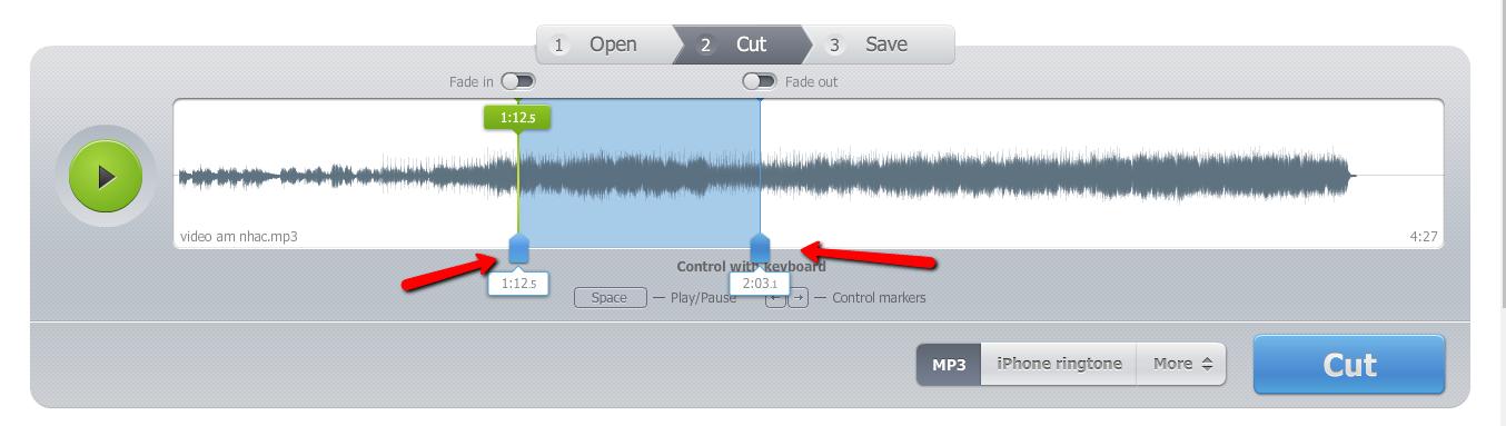 Hướng dẫn cách cắt nhạc trực tuyến