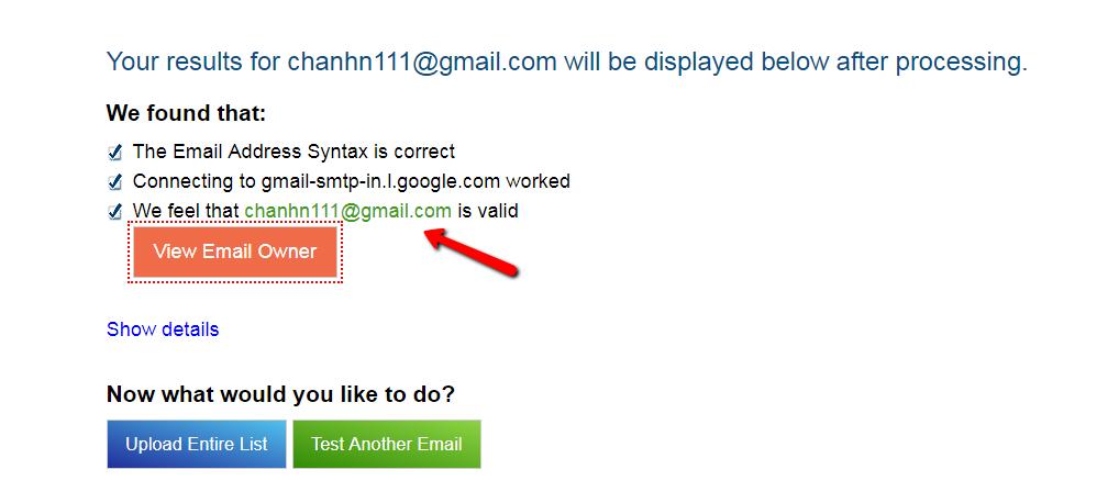 Cách kiểm tra email tồn tại hay không